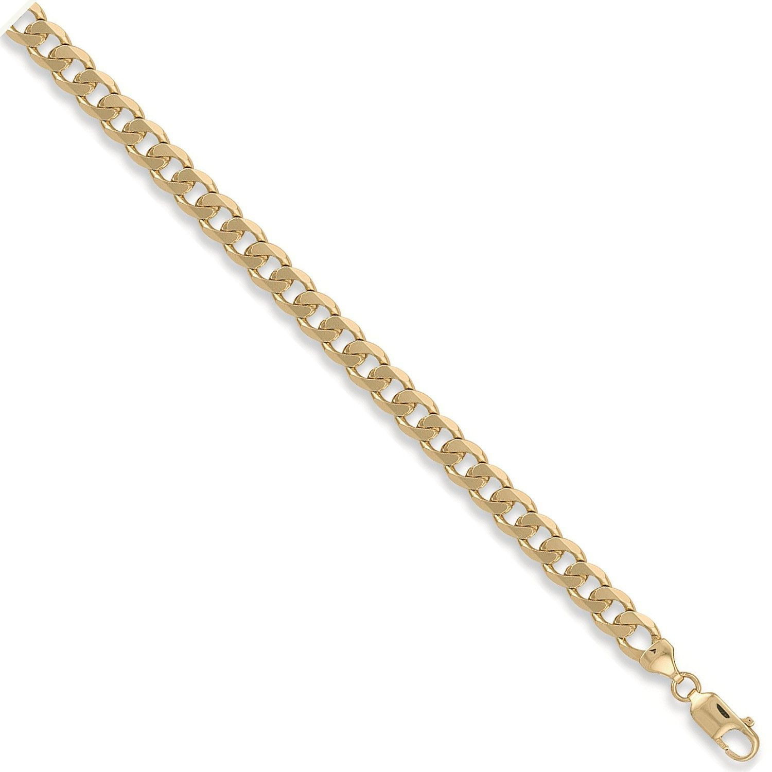 9ct Yellow Gold 8mm Curb Chain