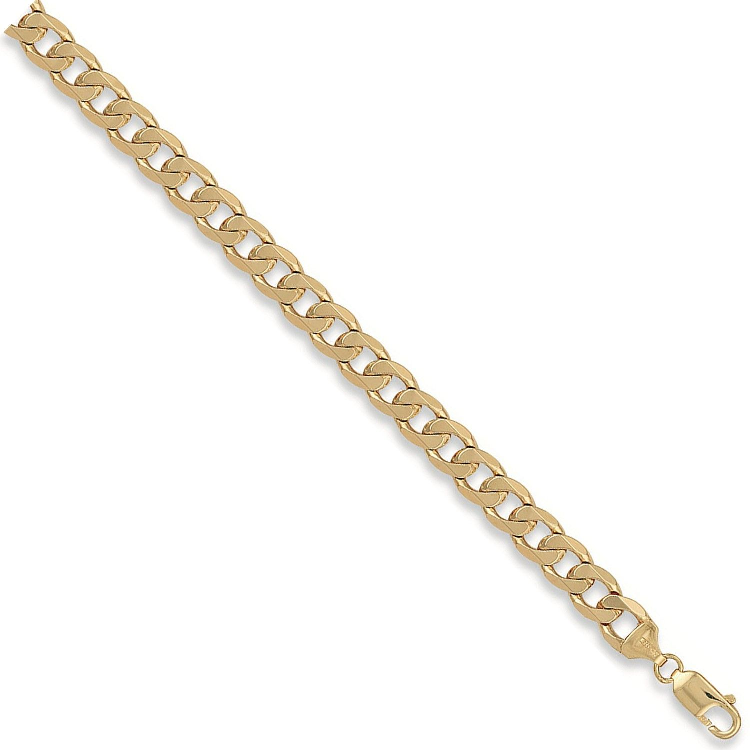 9ct Yellow Gold 9.5mm Curb Chain