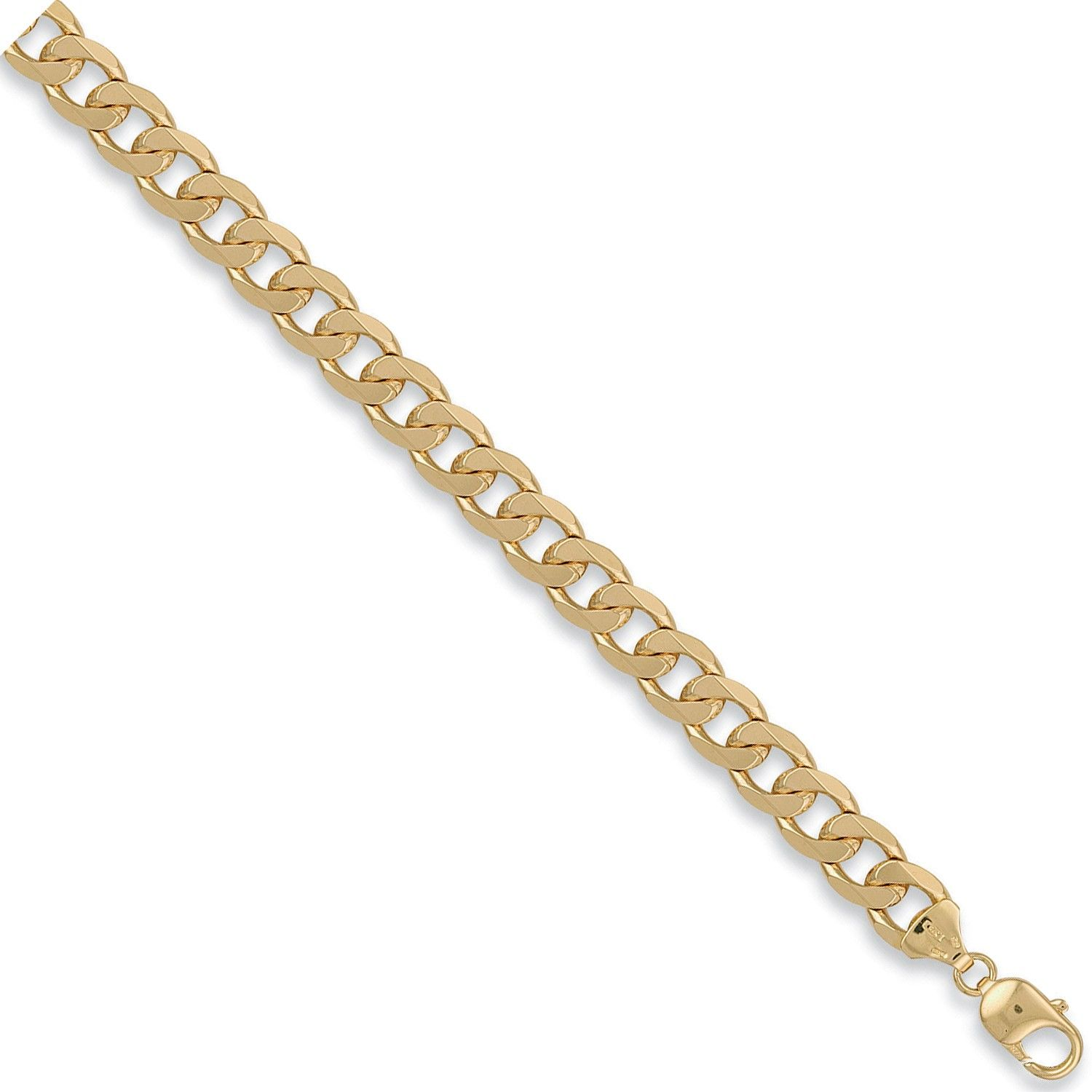 9ct Yellow Gold 10.5mm Curb Chain