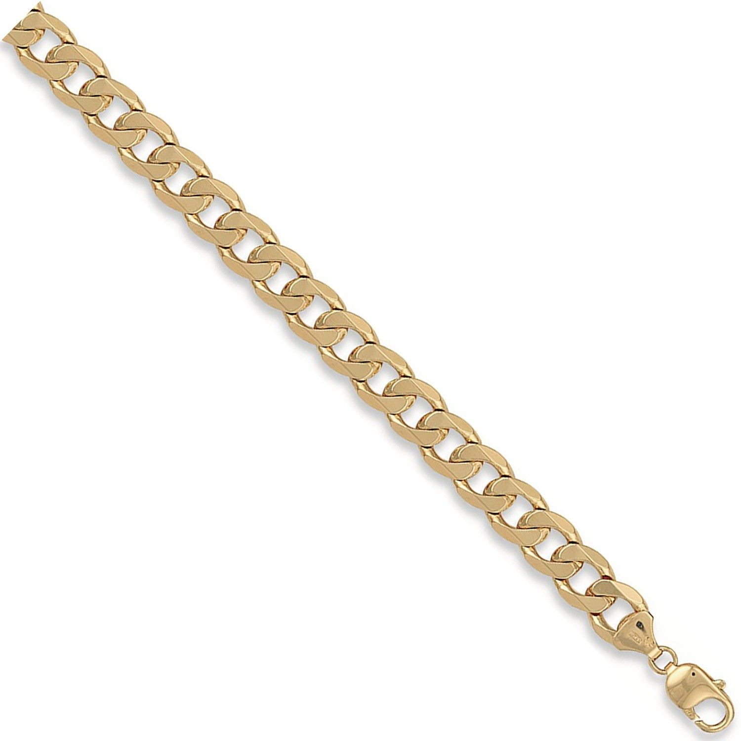 9ct Yellow Gold 11mm Curb Chain