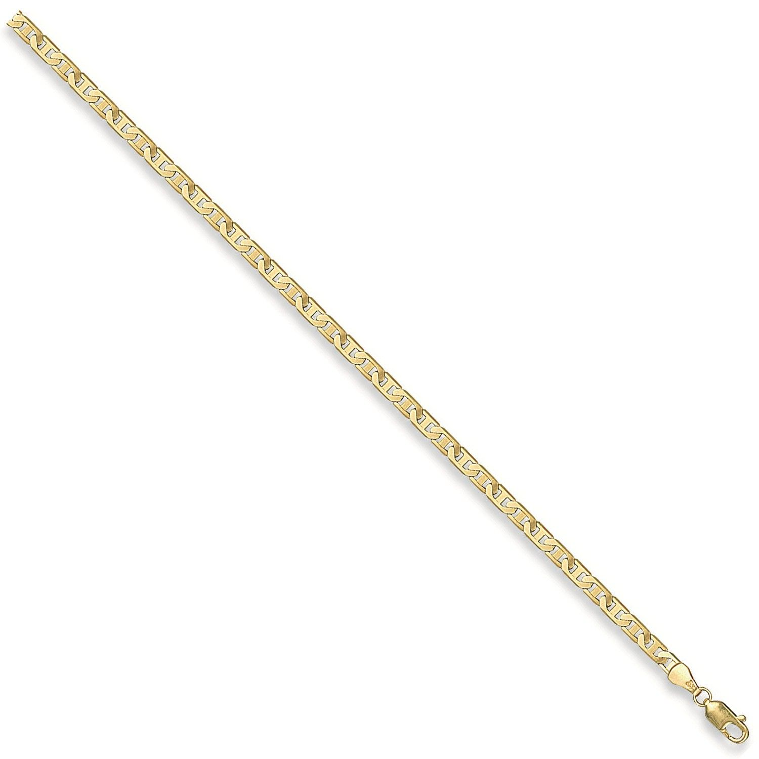 9ct Yellow Gold 4mm Anchor Chain