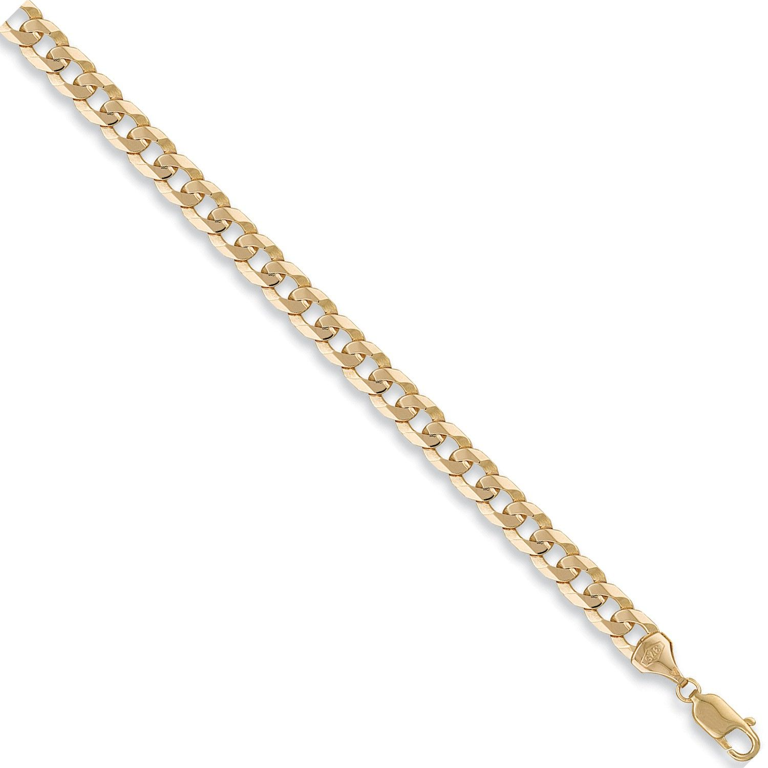 9ct Yellow Gold 7.5mm Curb Chain