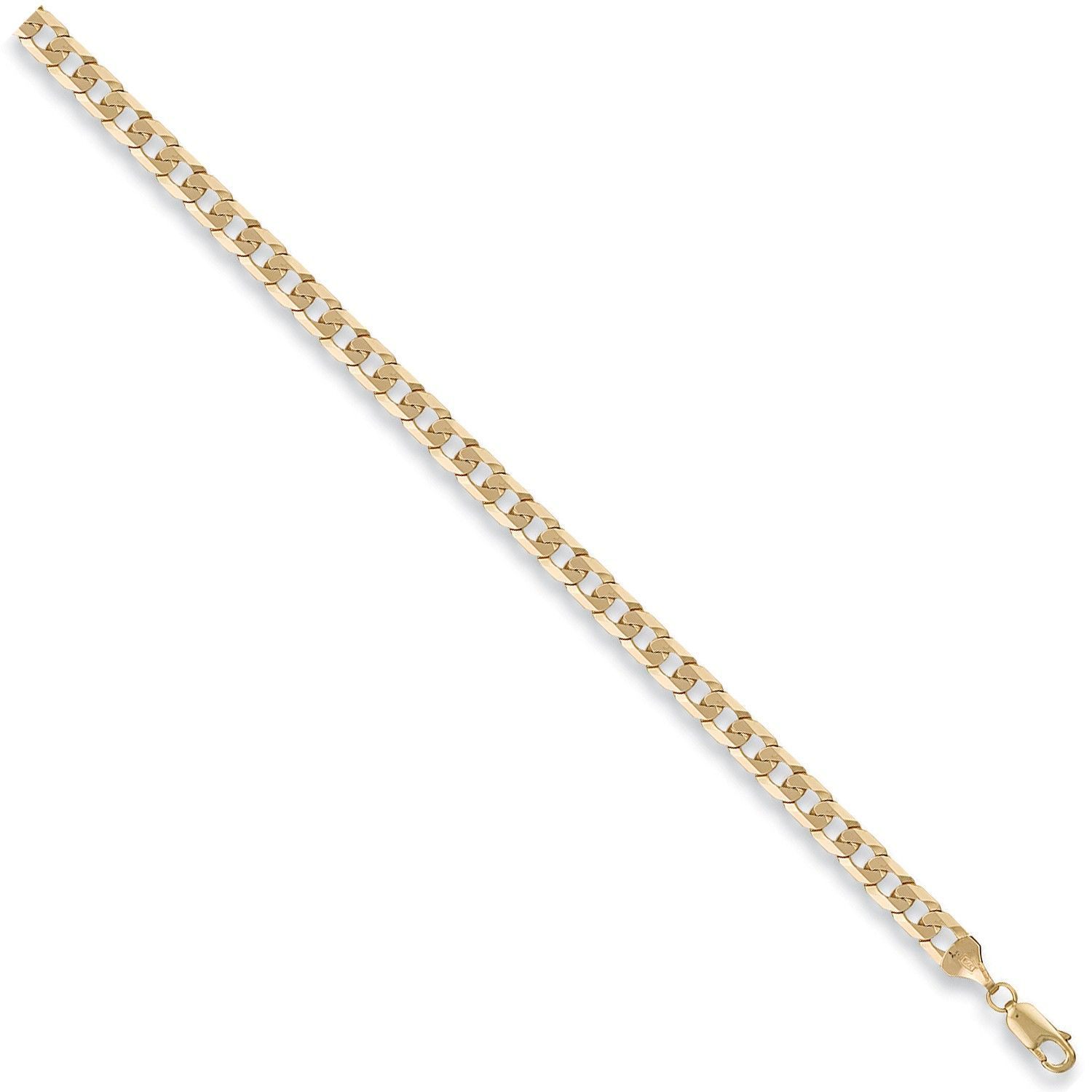 9ct Yellow Gold 5.5mm Curb Chain