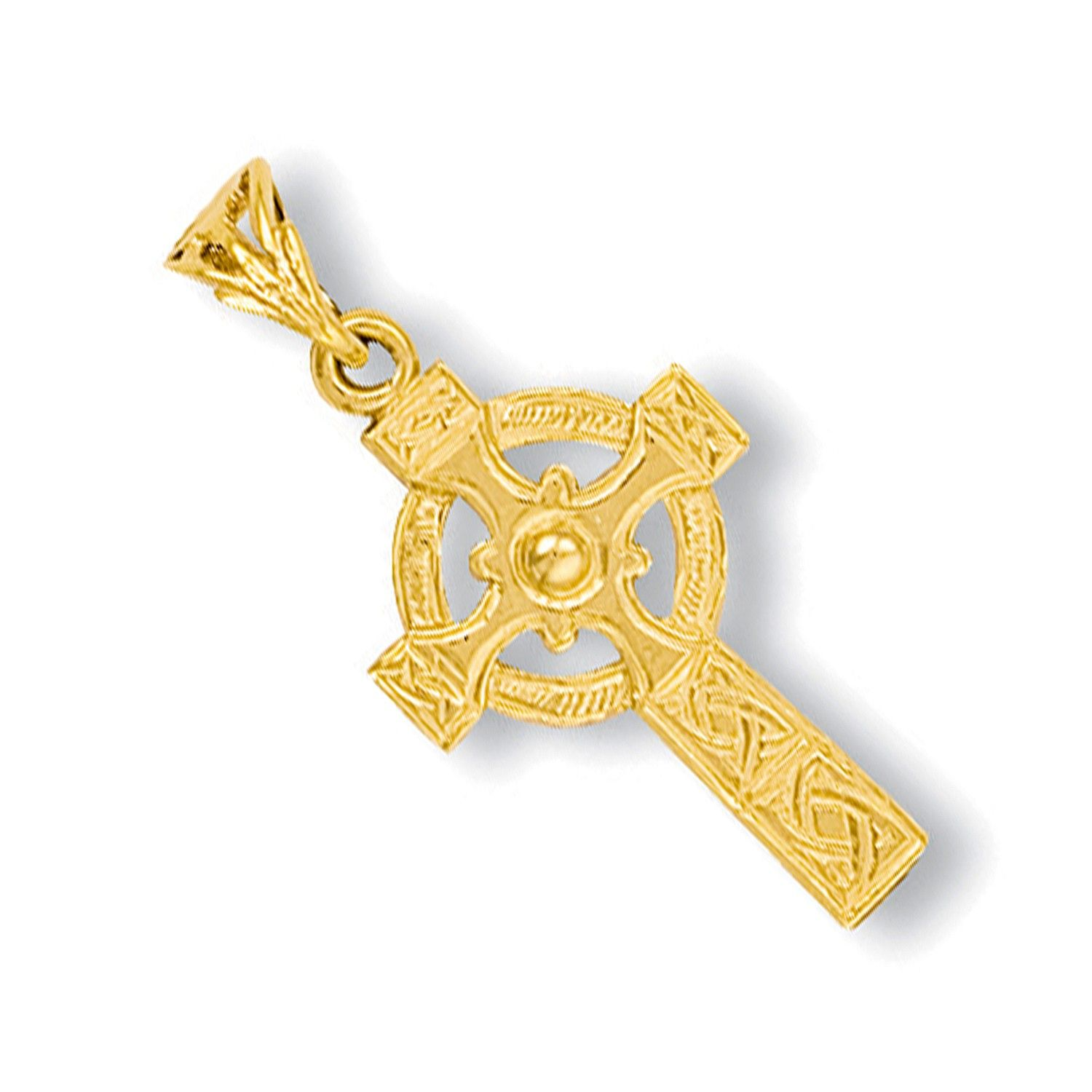 9ct Yellow Gold Engraved Celtic Cross Gold