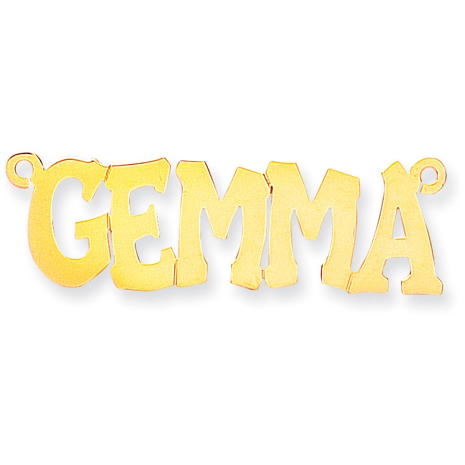 9ct Gold Golde Hip Hop Style Name Necklace