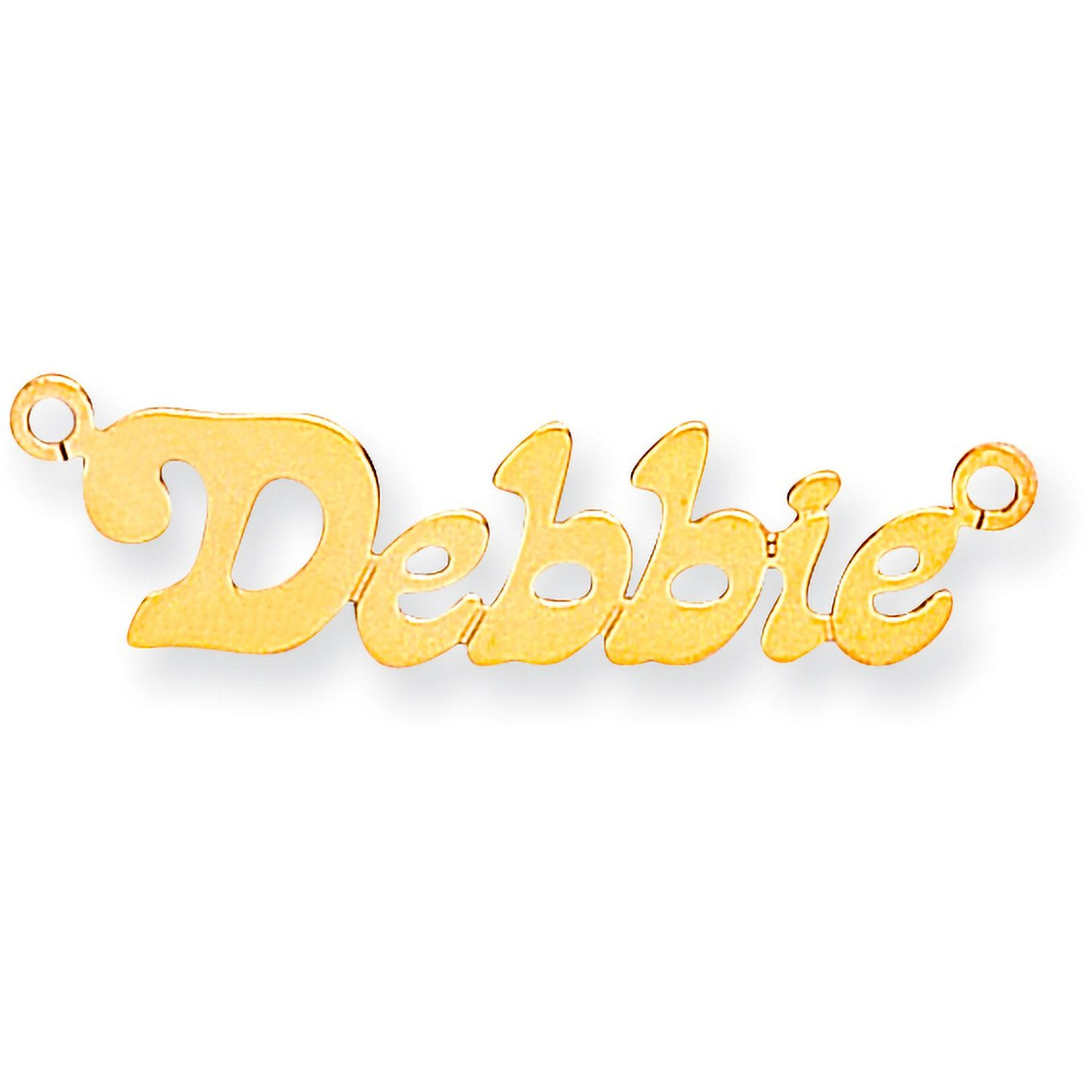 9ct Gold Small Lazybones Name Necklace
