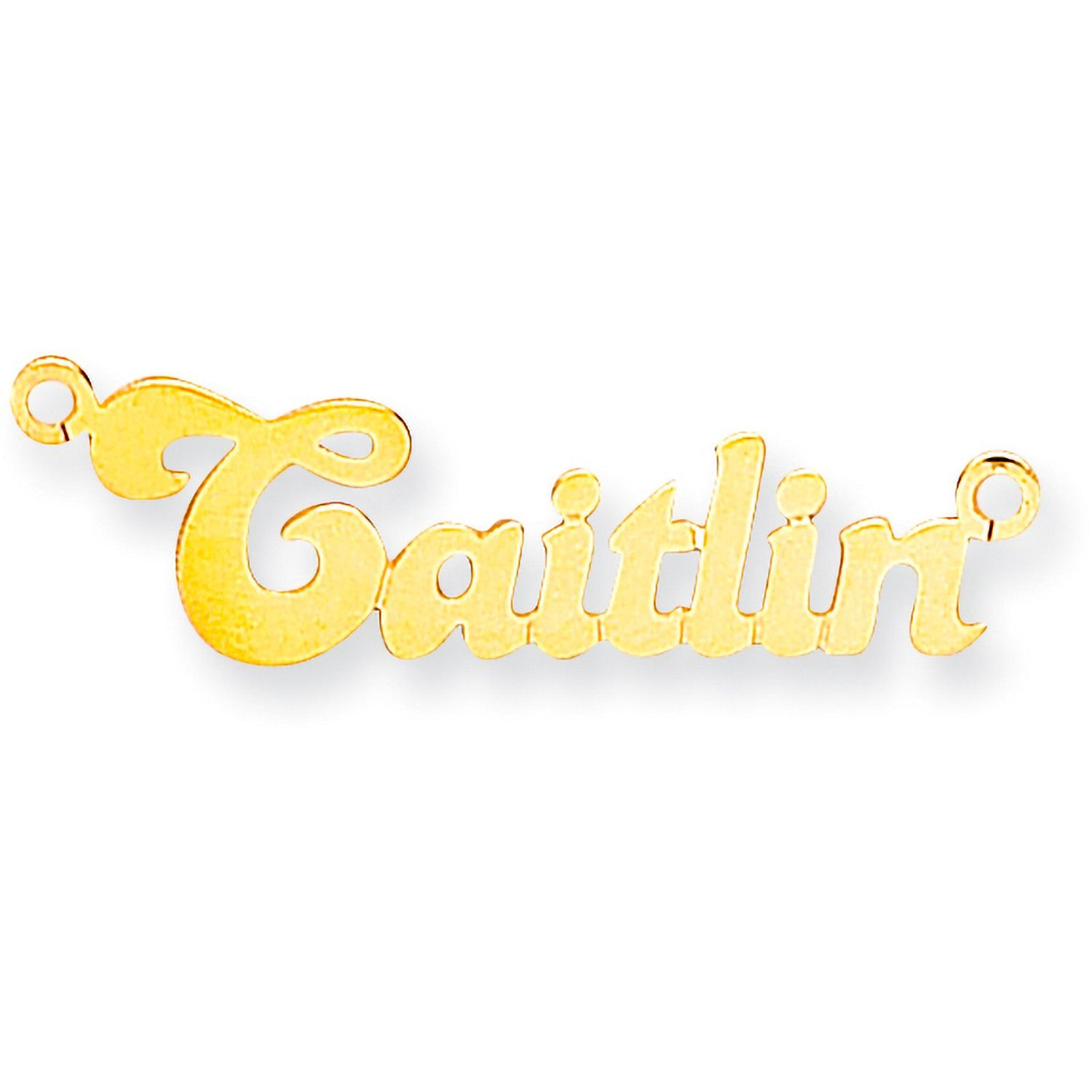 9ct Gold Small Banana Name Necklace