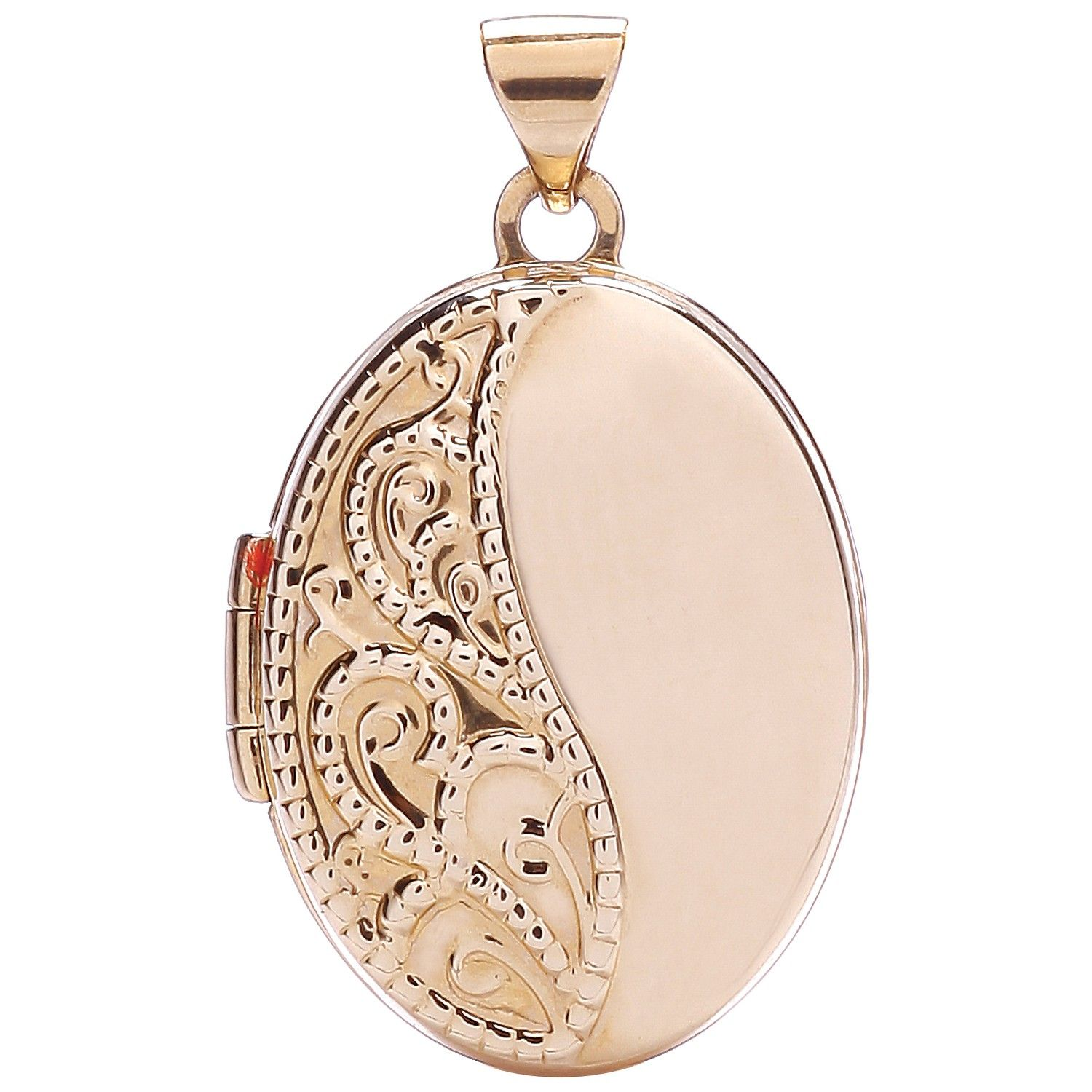 9ct Gold Oval Shaped Locket Gold