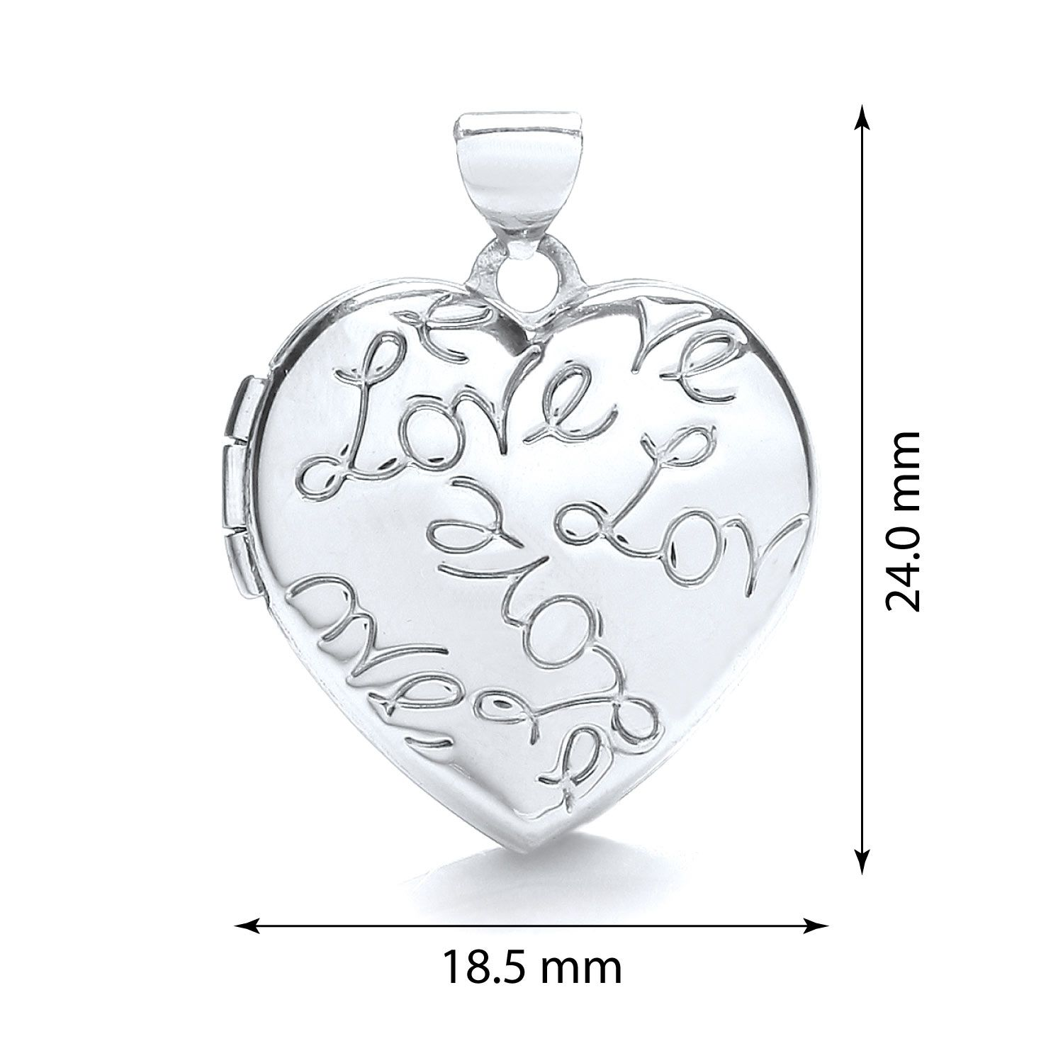9ct Gold Heart Locket with Love engraving Gold
