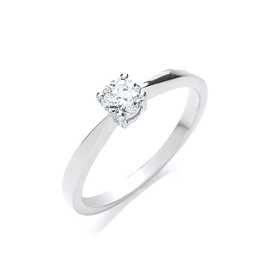 18ct White Gold 0.35cts Diamond Engagement Ring