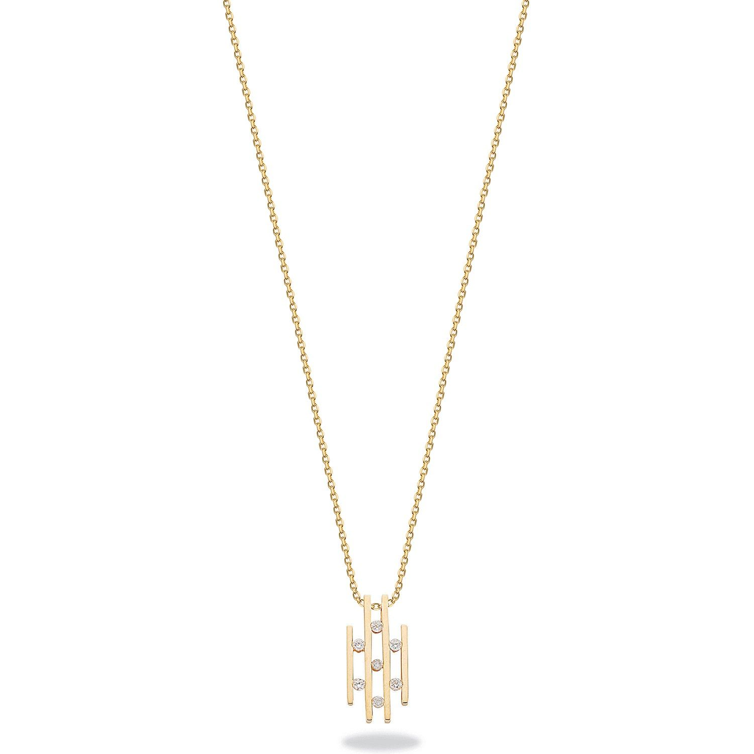 9ct Yellow Gold 0.23ct Diamond Drop Pendant with 18in/45cm Chain