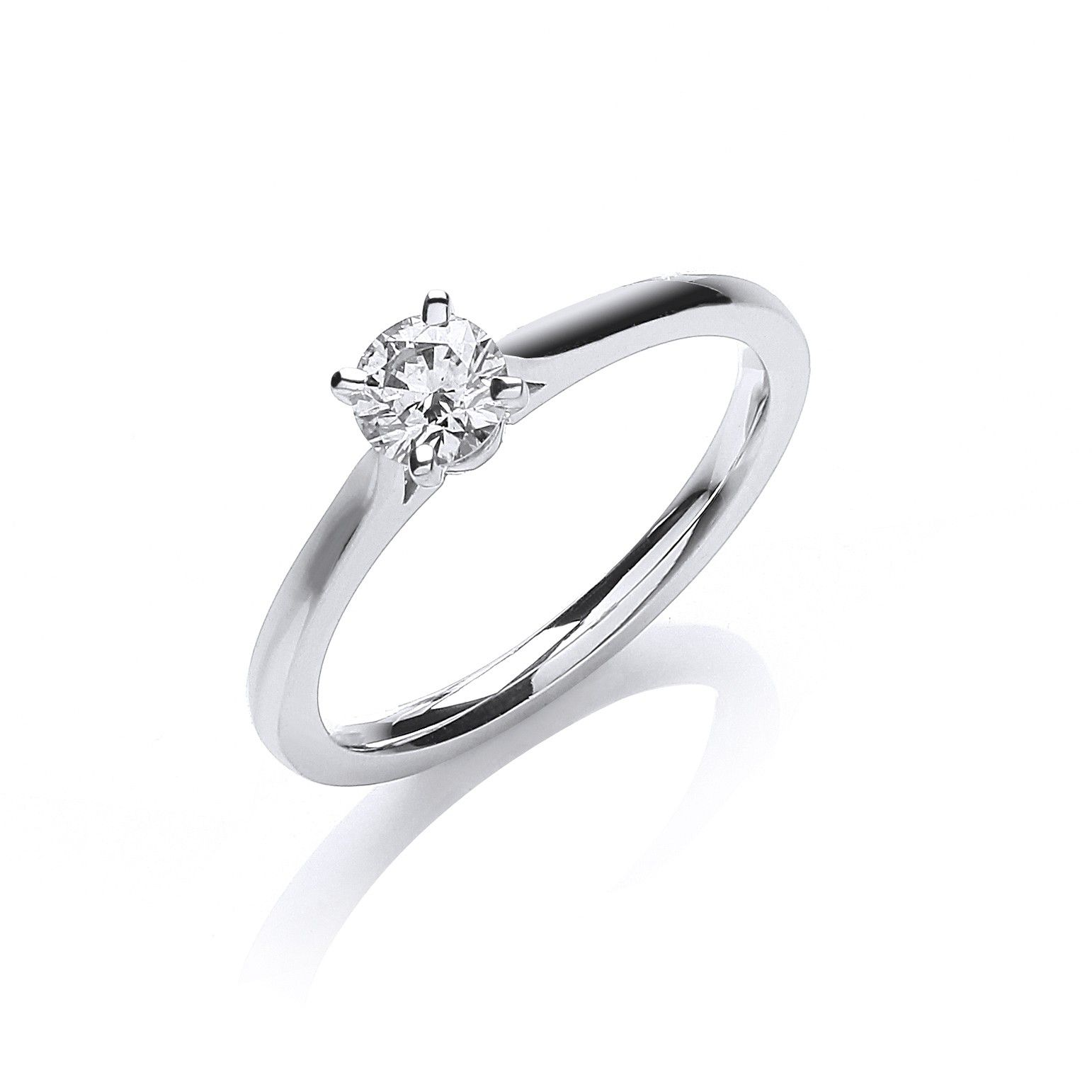 18ct White Gold 0.30ct Certificated Solitaire Ring