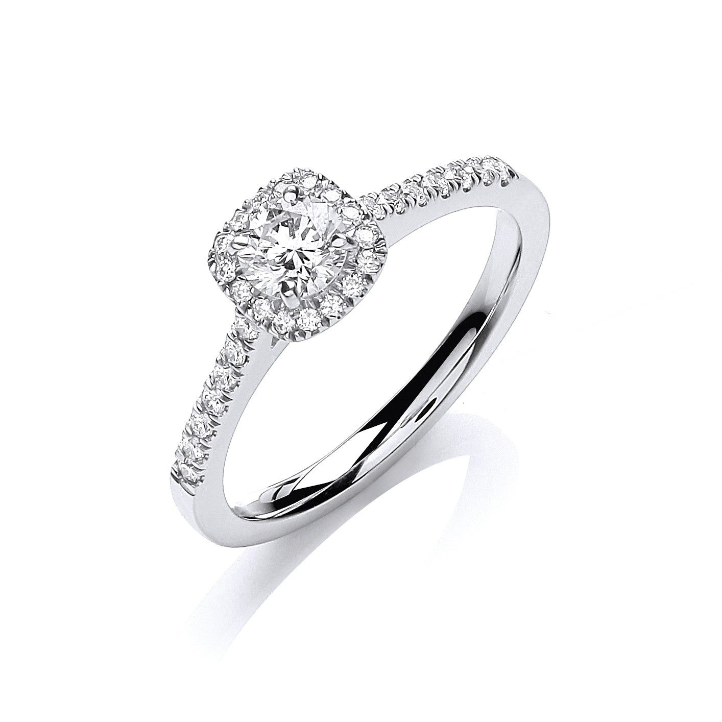 18ct White Gold 0.50cts Certificated Diamond Engagement Ring
