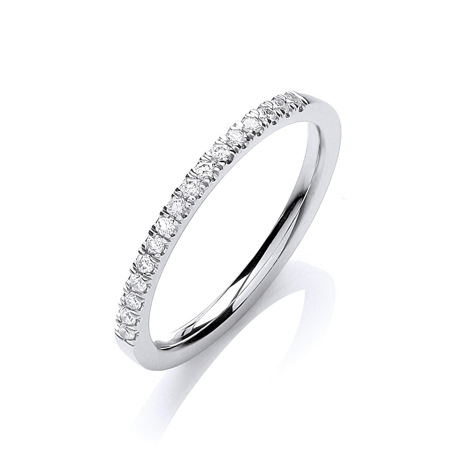 18ct White Gold and diamond 0.12cts eternity Ring Diamond Gold
