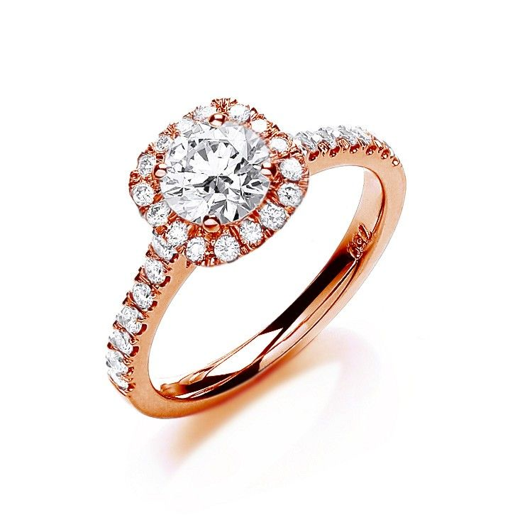 18ct Rose Gold 1.00ct Certificated Diamond Engagement Ring
