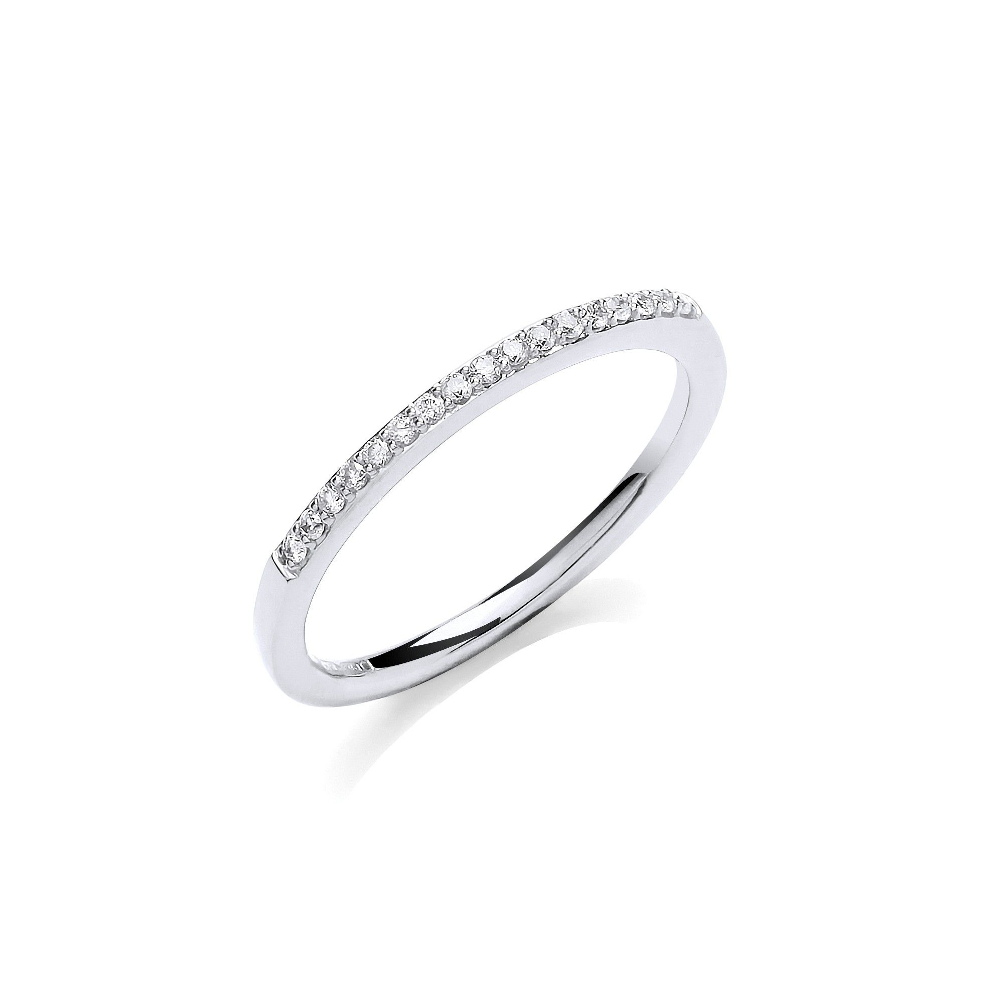 9ct White Gold 0.10ct Eternity Ring
