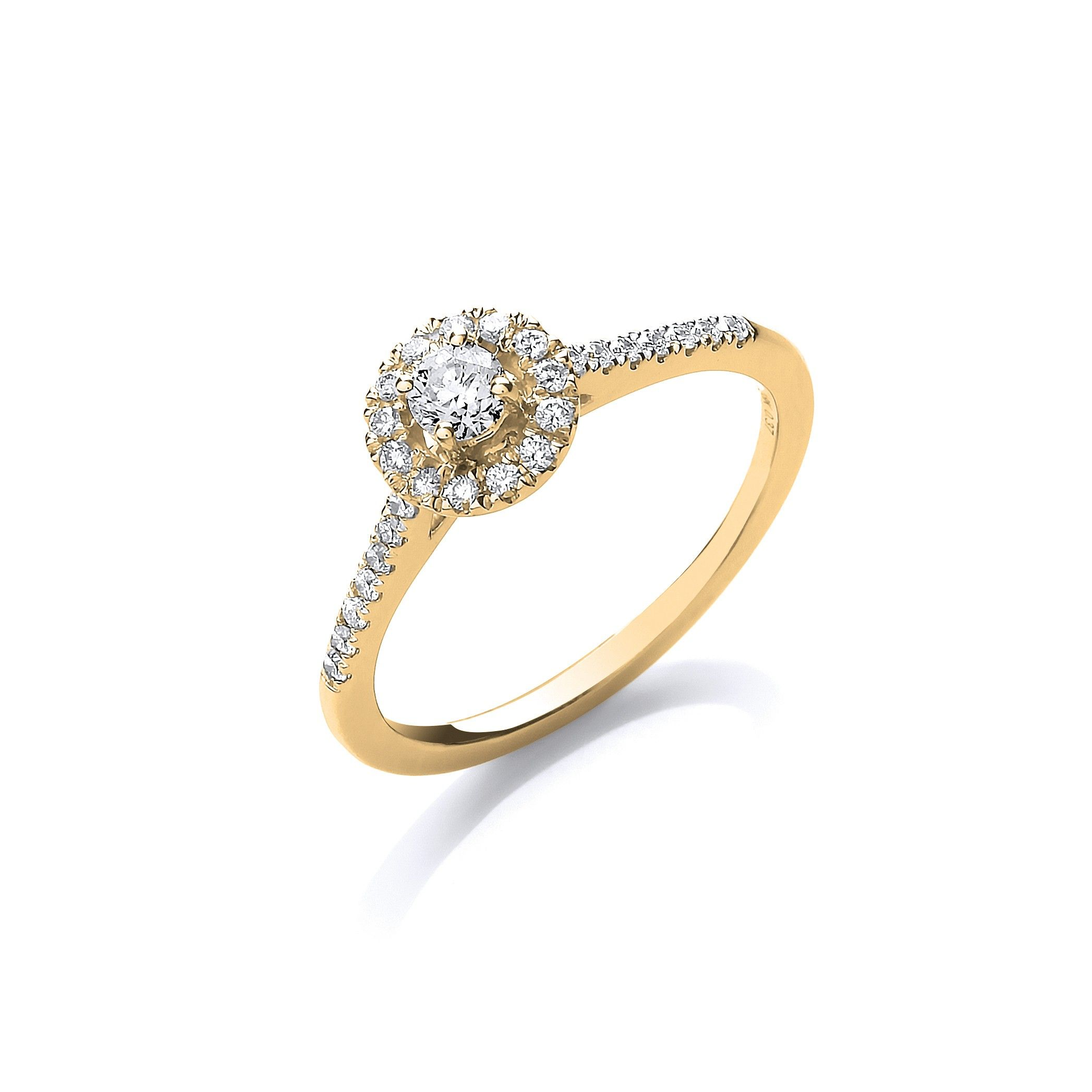 18ct Yellow Gold 0.37ct Fancy Engagement Ring