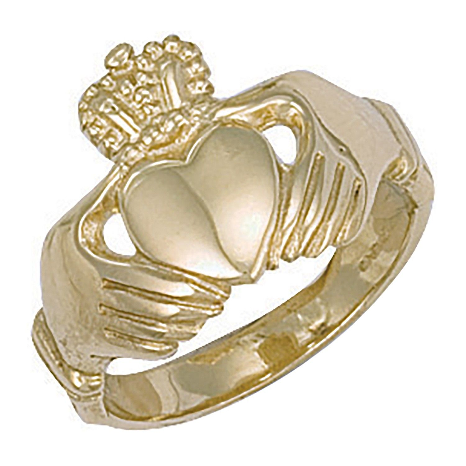 9ct Yellow Gold Claddagh Ring Gold