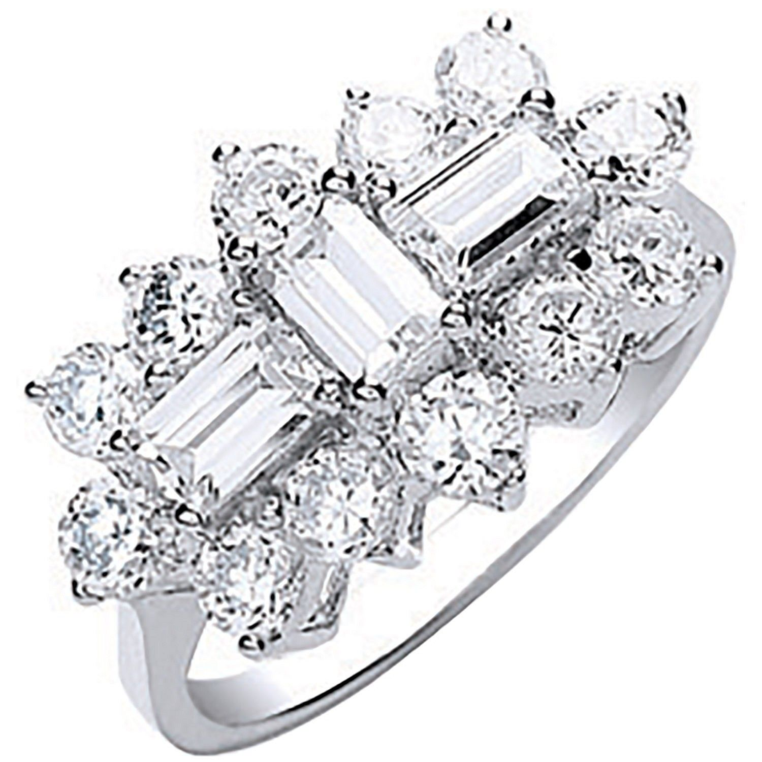 9ct Gold Cz Boat Ring