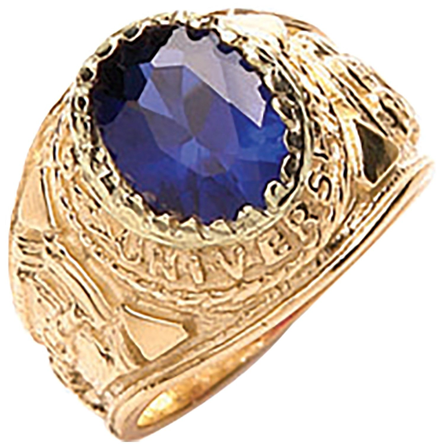 9ct Yellow G Blue Baby Collage Ring