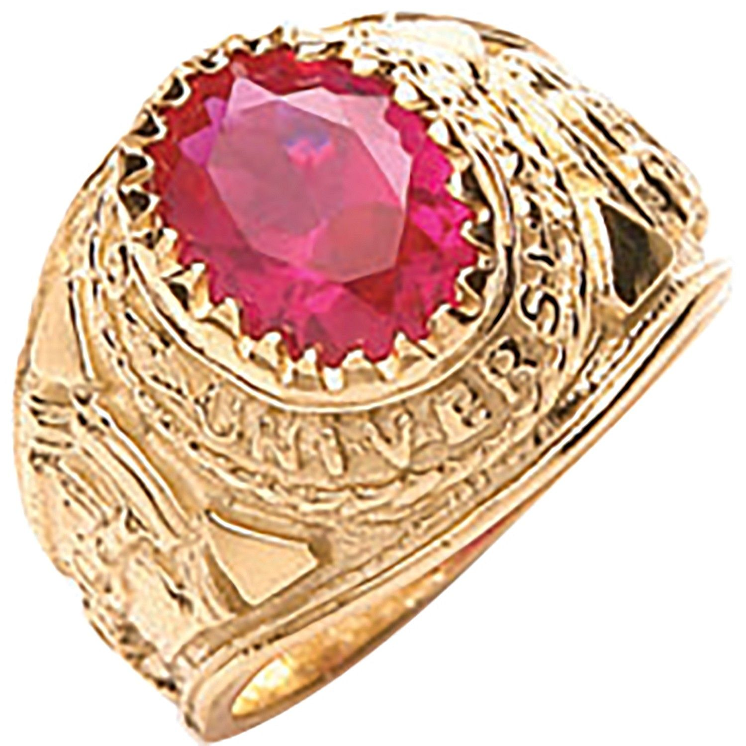 9ct Yellow G Red Baby Collage Ring