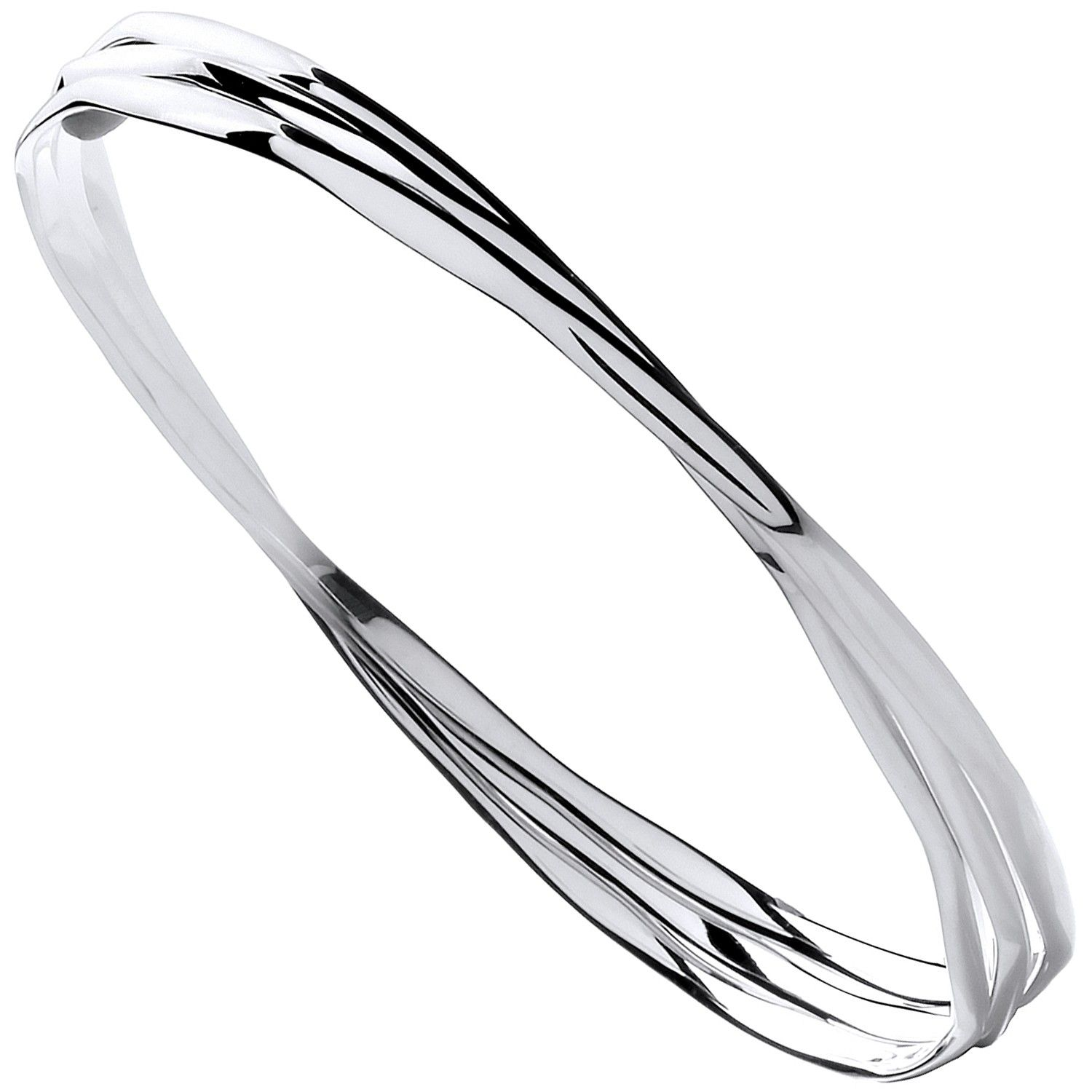Silver Russian Faceted Ladies Bangle