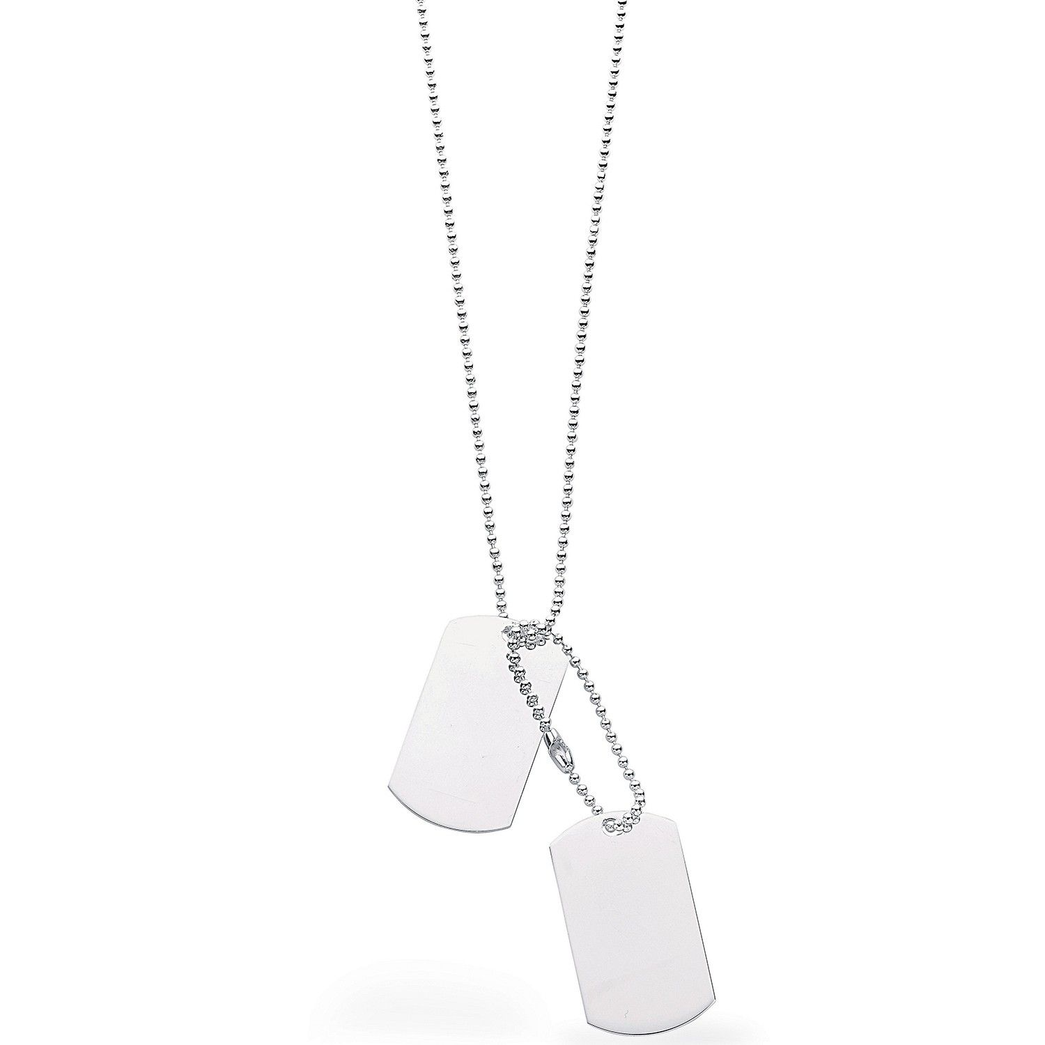 Silver Tags Necklace