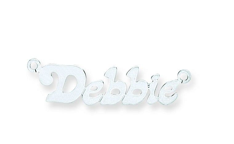 Silver Small Lazybones Name Necklace