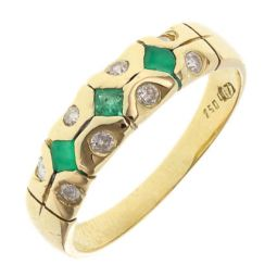 Pre-owned 18ct Yellow Gold Gemstone Half Eternity Ring - Size N 1/2