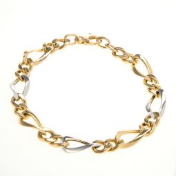 Pre-owned 18ct Bi Colour Gold Bracelet