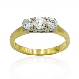 Pre-owned 3 Stone Diamond Engagement Ring