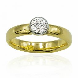 Pre-owned Diamond Single Stone Ring 0.4 Carats