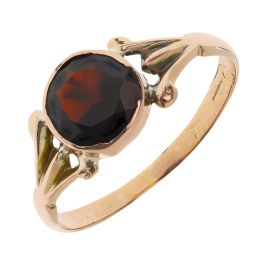 Pre-owned 9ct Rose Gold Gemstone Ring - Size P