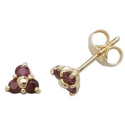 9ct Gold Ruby Studs