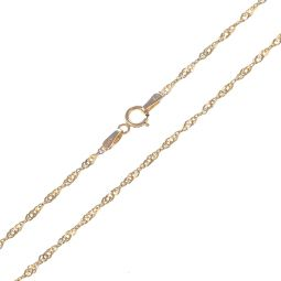 Pre-Owned 9ct Yellow Gold Singapore Chain