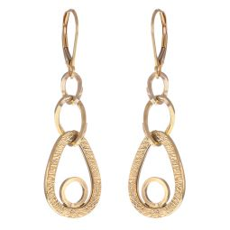 Pre-Owned 9ct Yellow Gold Drop Earrings