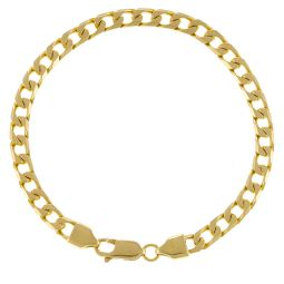 Pre-Owned 18ct Yellow Gold Curb Bracelet - 17g