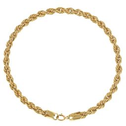 Pre-Owned 18ct Yellow Gold Rope Bracelet  - 3.4g