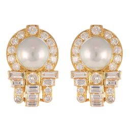 Pre-Owned 18ct Yellow Gold Diamond Cluster Earrings - 10g