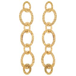 Pre-Owned 18ct Yellow Gold Patterned Earrings - 5g