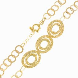 Pre-Owned 18ct Yellow Gold Hoop Necklace - 16g