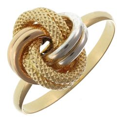 Pre-Owned 18ct Yellow Gold Knot Ring  - 1.8g