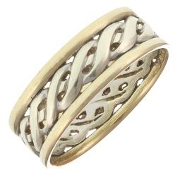 Pre-Owned 9ct Multi Colour Gold Rope Ring  - 3.89g