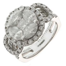 Pre-Owned 18ct Gold Diamond Ring - 9g