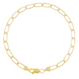 Pre-Owned 9ct Yellow Gold Curb Bracelet - 5.8g
