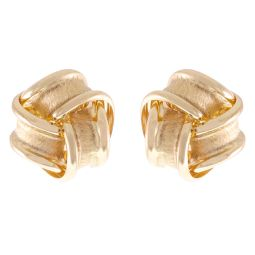 Pre-Owned 9ct Yellow Gold Twisted Earring