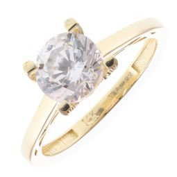 Pre-Owned 14ct Yellow Gold Gem-set Solitaire Ring - 2.3g