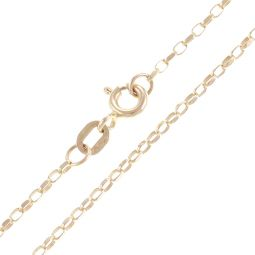 9ct Yellow Gold Oval Belcher Chain - 1.5mm - 1.8g