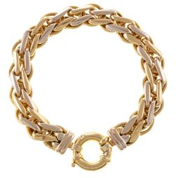 Pre-Owned 18ct Yellow & White Gold Knotted Bracelet - 12mm -  39g
