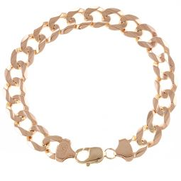 Pre-Owned 9ct Yellow Gold Classic Heavy Curb Bracelet - 29.8g